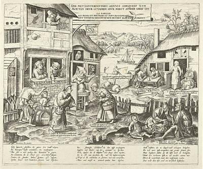 Sloths Drawing - Sloths, Frans Huys, Cornelis Massijs, Joannes Galle by Artokoloro