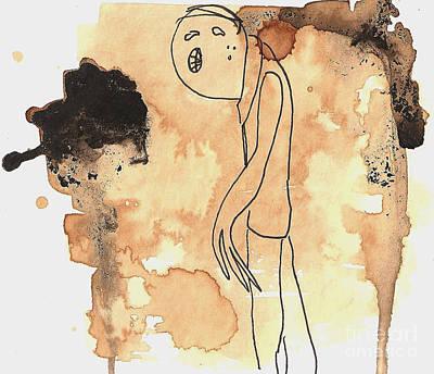 Drawing - Slouch by Jeff Barrett