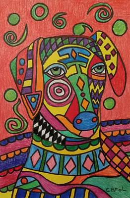 Drawing - Sloughi Dog by Carol Hamby
