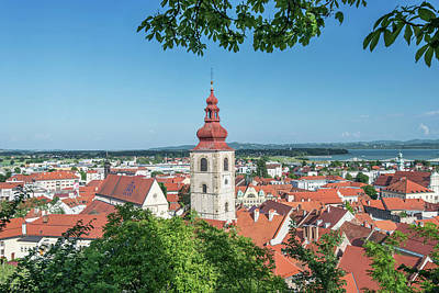 Slovenia, Ptuj, Old Town (large Format Art Print by Rob Tilley