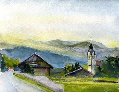 Slovenia. Vrhnika. Art Print by Lelia Sorokina