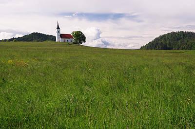 Slovenia Photograph - Slovenian Church Close To Vrhnika by Graham Hawcroft pixsellpix