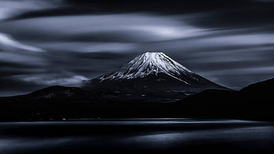 Volcano Photograph - Slow Cloud by Takashi