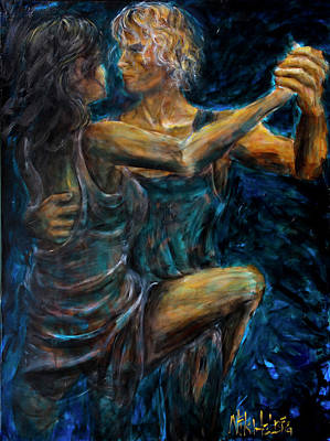 Painting - Slow Dancing II by Nik Helbig