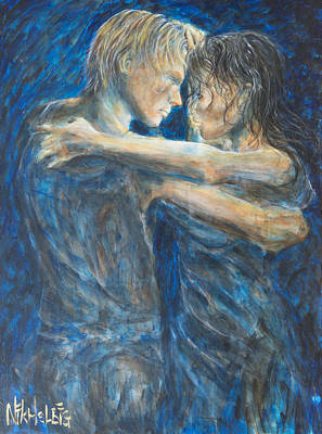Painting - Slow Dancing Iv by Nik Helbig