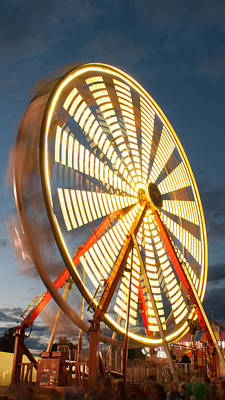 Photograph - Slow Down The Ferris Wheel by Michael Porchik
