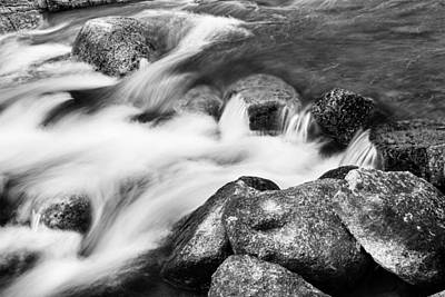 Photograph - Slow Flow Black And White by James BO Insogna