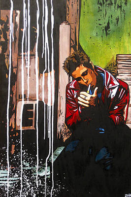 Banksy Painting - Slow Night For Tyler by Bobby Zeik