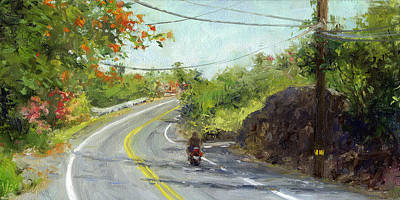 Haleiwa Painting - Slow Ride by Stacy Vosberg