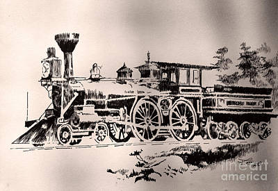 Robbi Musser Drawing - Slow Train by Robbi  Musser