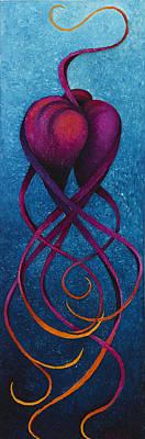 Fantastique Painting - Slowdance by Karen Balon