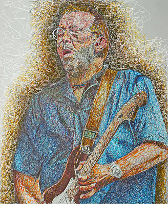 Eric Clapton Drawing - Slowhand by Breyhs Swan