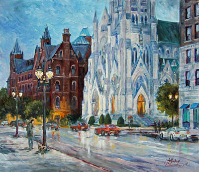 Saint Louis Painting - Slu And College Church by Irek Szelag