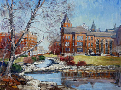 Slu Campus Cook Hall Art Print