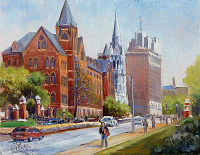 Slu Gate Grand Blvd Saint Louis Art Print
