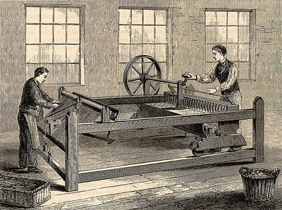 Slubbing-billy To Spin Carded Wool Art Print by Universal History Archive/uig