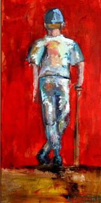 Batter Painting - Slugger by Lisa Moore