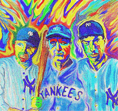 Babe Ruth Digital Art - Sluggers by GR Cotler