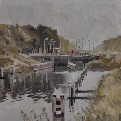 Painting - Sluice 3 Tilburg by Nop Briex