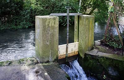 Floodplain Photograph - Sluice Gate by Sheila Terry