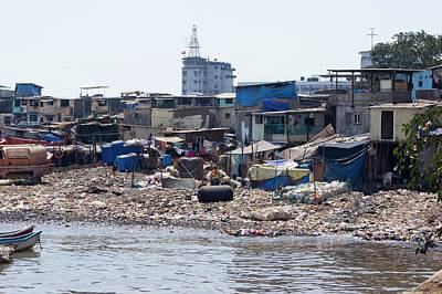 Slums Photograph - Slum In Colaba by Mark Williamson