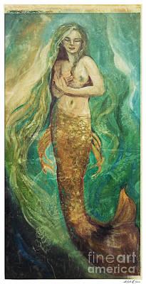 Slumbering Natural Siren Art Print