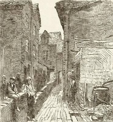Slums In Birmingham, 1870s Art Print by British Library