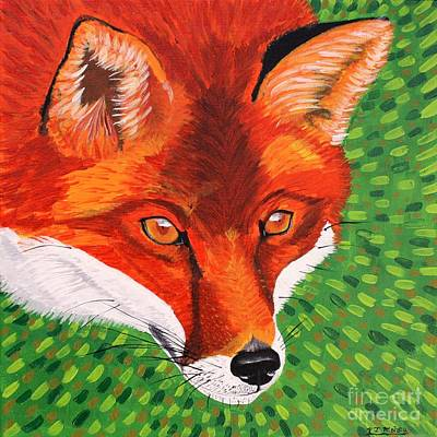 Painting - Sly Mr. Fox by Vicki Maheu