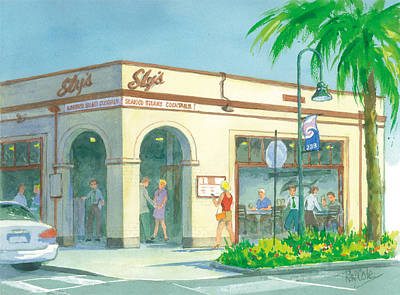 Ray Cole Painting - Sly's by Ray Cole