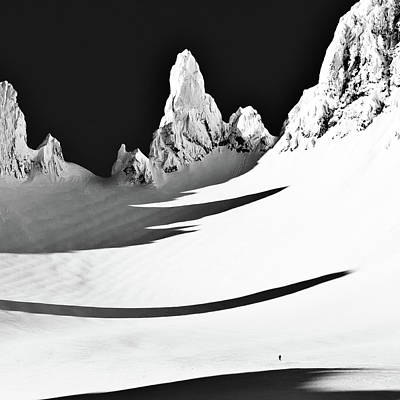 Skier Photograph - Small And Big by ?smund Keilen