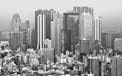 Citys Photograph - Small And Tall Tokyo Japan by Clive Eariss