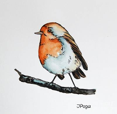 Painting - Small Bird Illustration by Inese Poga