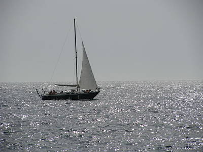 Photograph - Small Boat At Sea by Eva Csilla Horvath