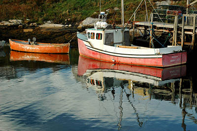 Photograph - Small Boats At Peggy's Cove. Nova Scotia. by Rob Huntley