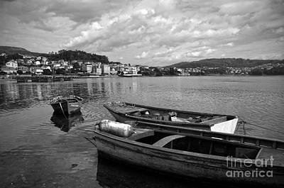 Photograph - Small Boats In Galicia Bw by RicardMN Photography