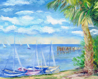 Small Boats On Water Art Print