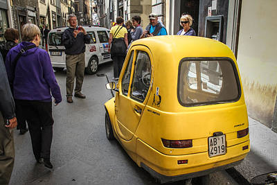 Photograph - Small Car And Narrow Streets In Florence - May 31 by Dwight Theall