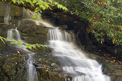Photograph - Small Cascade Of Soco Falls North Carolina by Charles Beeler