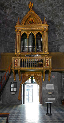 Photograph - Small Church Pipe Organ by Herb Paynter