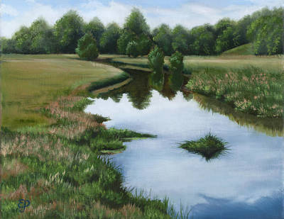 Painting - Small Creek by Elena Polozova