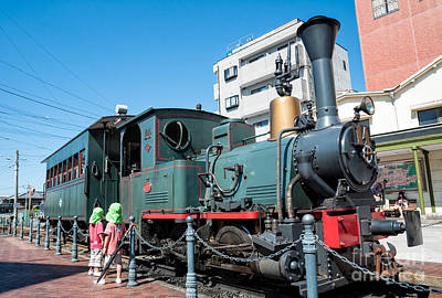 Photograph - Small Cute Steam Engine Replica - A Japanese Marvel by David Hill