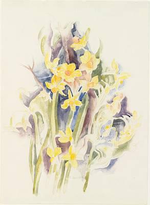 Small Daffodils Art Print by Charles Demuth