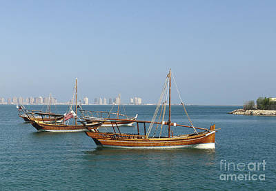 Dhow Photograph - Small Dhows And Pearl Development by Paul Cowan