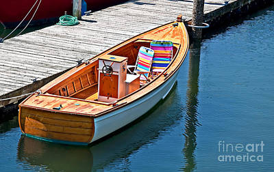 Photograph - Small Dinghy Boat Art Prints by Valerie Garner