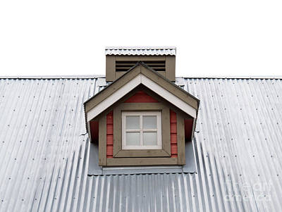 Roofing Tin Photograph - Small Dormer Window In Metal Roof by Stephan Pietzko