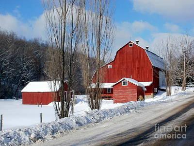 Photograph - Small Farm In Winter by Christian Mattison