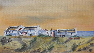 Painting - Small Fisherman's Settlement by Harold Kimmel