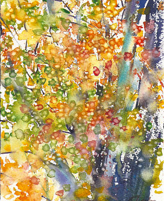 Painting - small format No.23 New England Fall-scape 40x49 by Sumiyo Toribe
