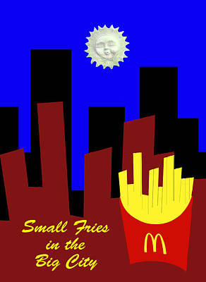 Featured Tapestry Designs - Small Fries in the Big City by Bruce Iorio
