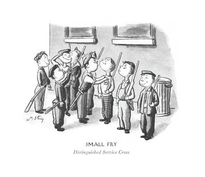 Fries Drawing - Small Fry Distinguished Service Cross by William Steig
